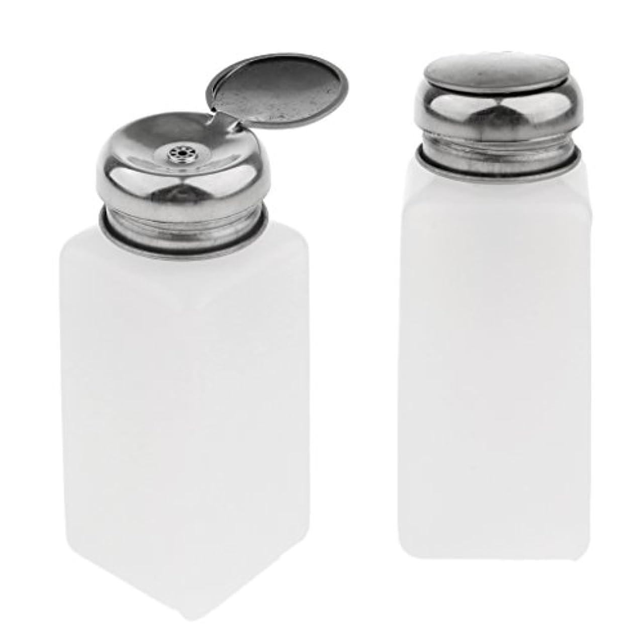 運ぶ解釈混合CUTICATE ポンプディスペンサー ネイル 空ポンプボトル ネイルクリーナーボトル 実用的 2個 全3サイズ - 250ミリリットル