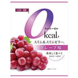 富士正食品 スリム&スリムゼリー カロリーゼロ グレープ味 22g×7個×20袋入×(2ケース)