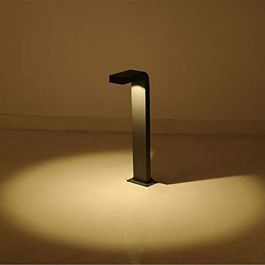 コークスヘビ電子レンジPinjeer 現代のクリエイティブ曲げled防水柱ライトヨーロッパダイキャストアルミ屋外ポストライト風景中庭ガーデンヴィラストリート装飾照明コラムランプ (Color : Black-white light, サイズ : Height 40cm)