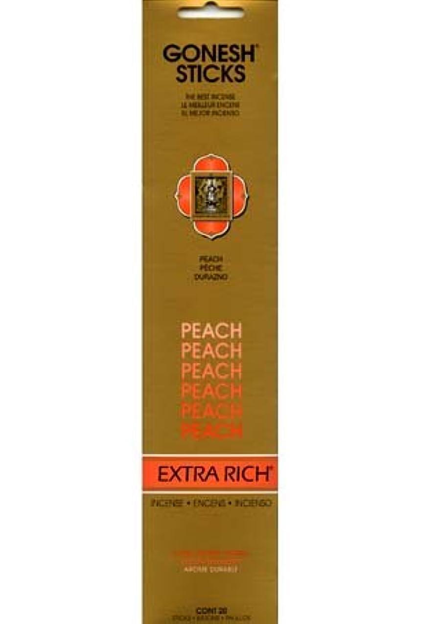 頭蓋骨余計な高いGONESH インセンス エクストラリッチスティック PEACH(ピーチ香)
