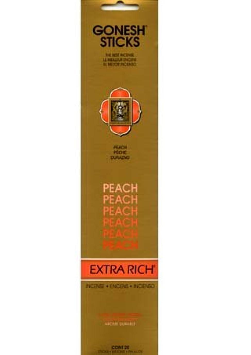 誘発する公爵学校教育GONESH インセンス エクストラリッチスティック PEACH(ピーチ香)