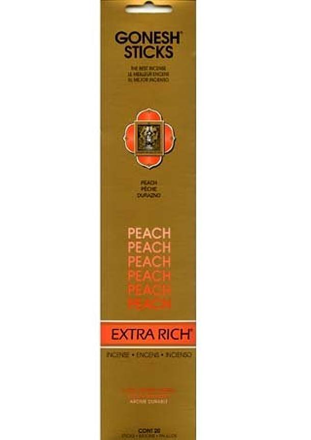 火傷いらいらさせる成長するGONESH インセンス エクストラリッチスティック PEACH(ピーチ香)