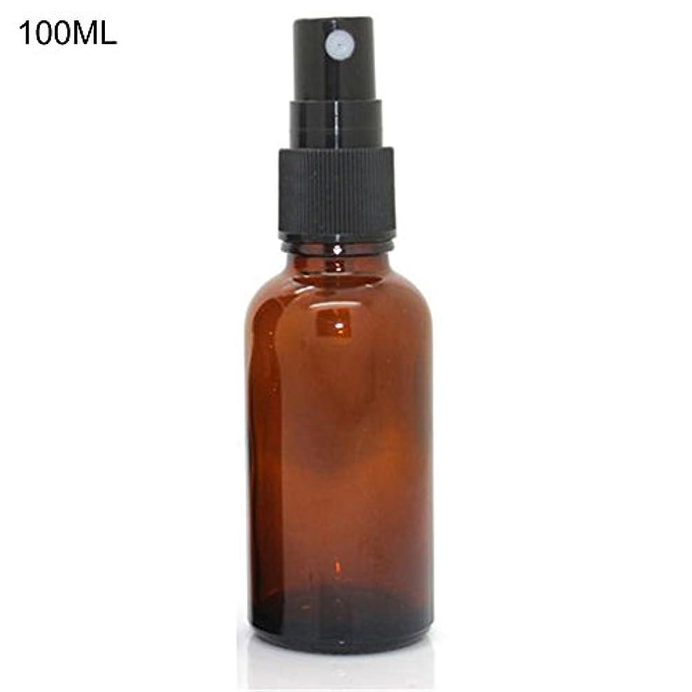 メアリアンジョーンズインチ機関車hamulekfae-化粧品綺麗5ミリリットル-100ミリリットル美容空琥珀色のガラス瓶エッセンシャルオイルミストスプレーコンテナケース - 100ミリリットル