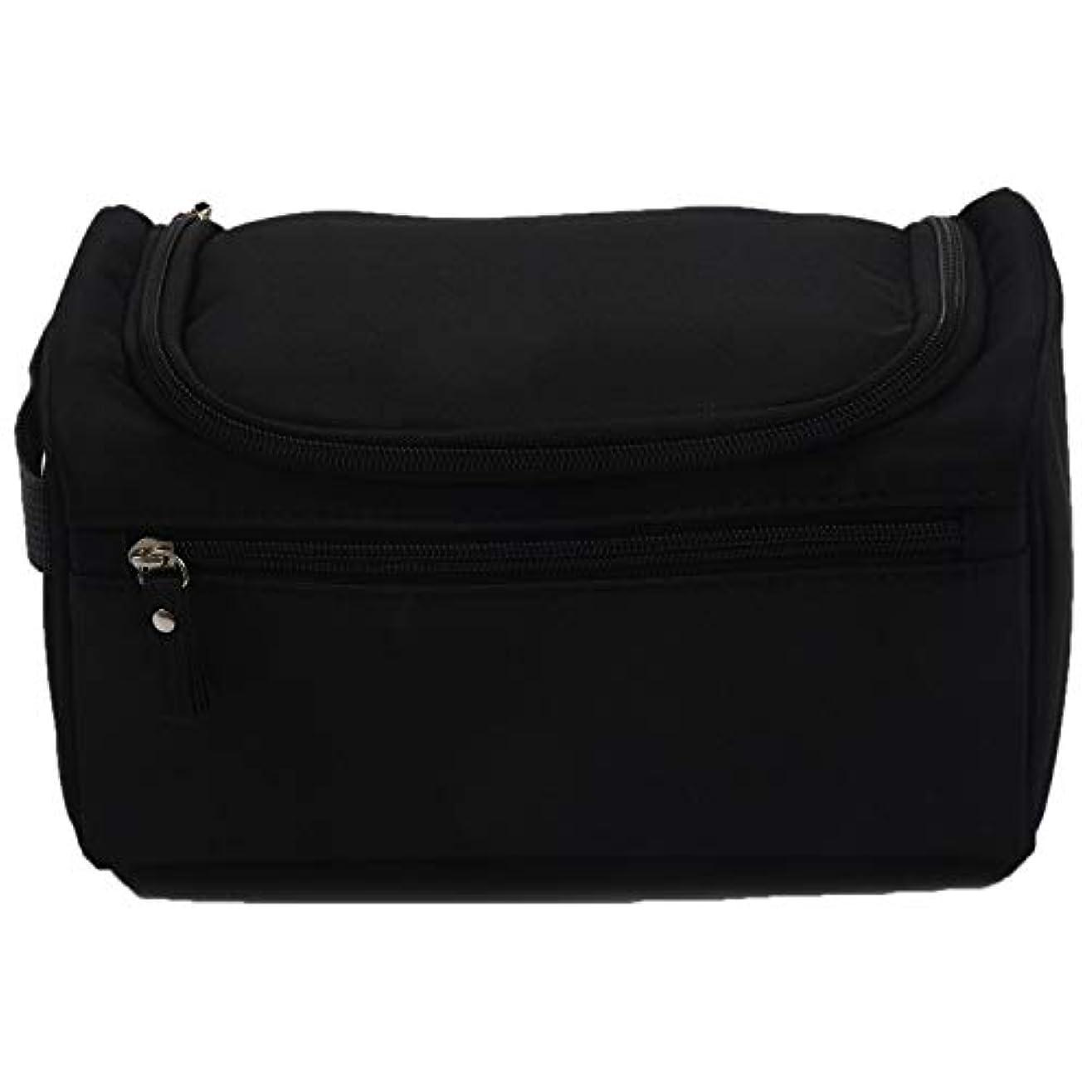 テクトニックごちそう通り抜けるSODIAL ( R ) Hand Washバッグメンズ旅行大容量ストレージWashバッグカラー:ブラック