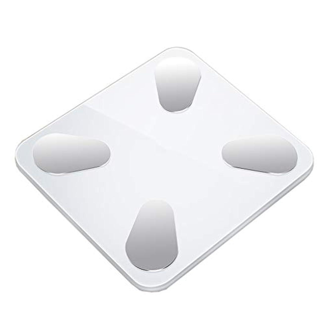 ライムしたがって付与体重計 高精度バスルームスケールデジタル電子重量スケールワイド強化ガラスプラットフォーム安全3cm厚さ180kg容量白