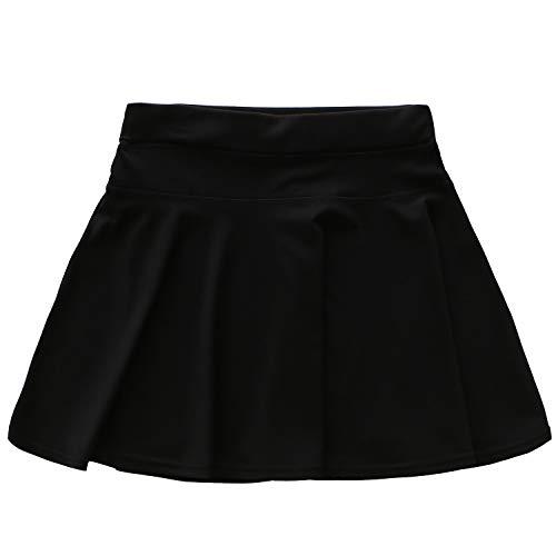 [ANGELERS] ランニングスカート フレアスカート レディース 吸汗速乾伸縮 (ブラック, S/M)