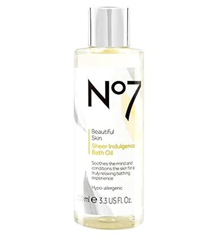 排泄する著名な放棄No7美しい肌透け耽溺のバスオイル (No7) (x2) - No7 Beautiful Skin Sheer Indulgence Bath Oil (Pack of 2) [並行輸入品]