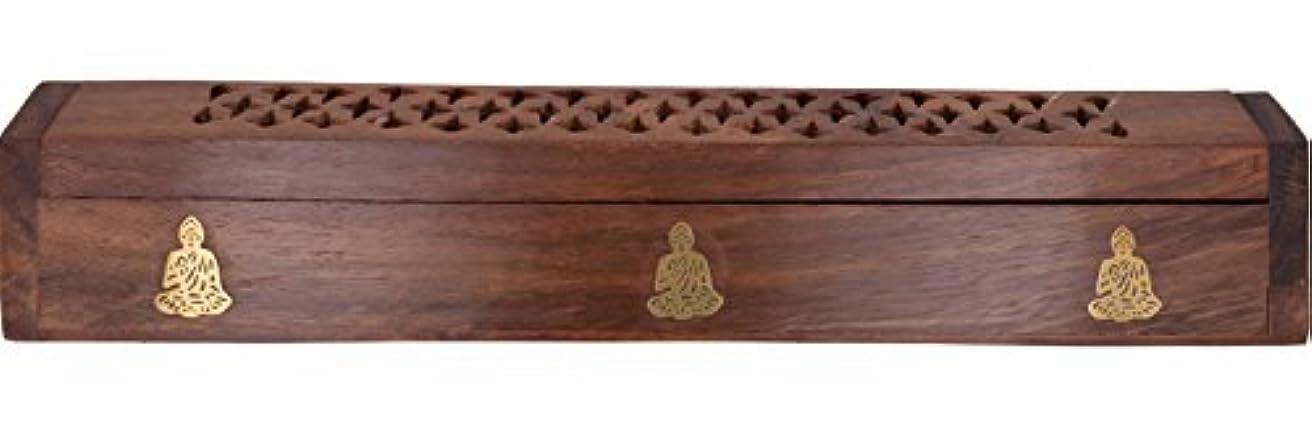 主流推進力勝者Cavelioローズ木製の棺香炉 – 仏12