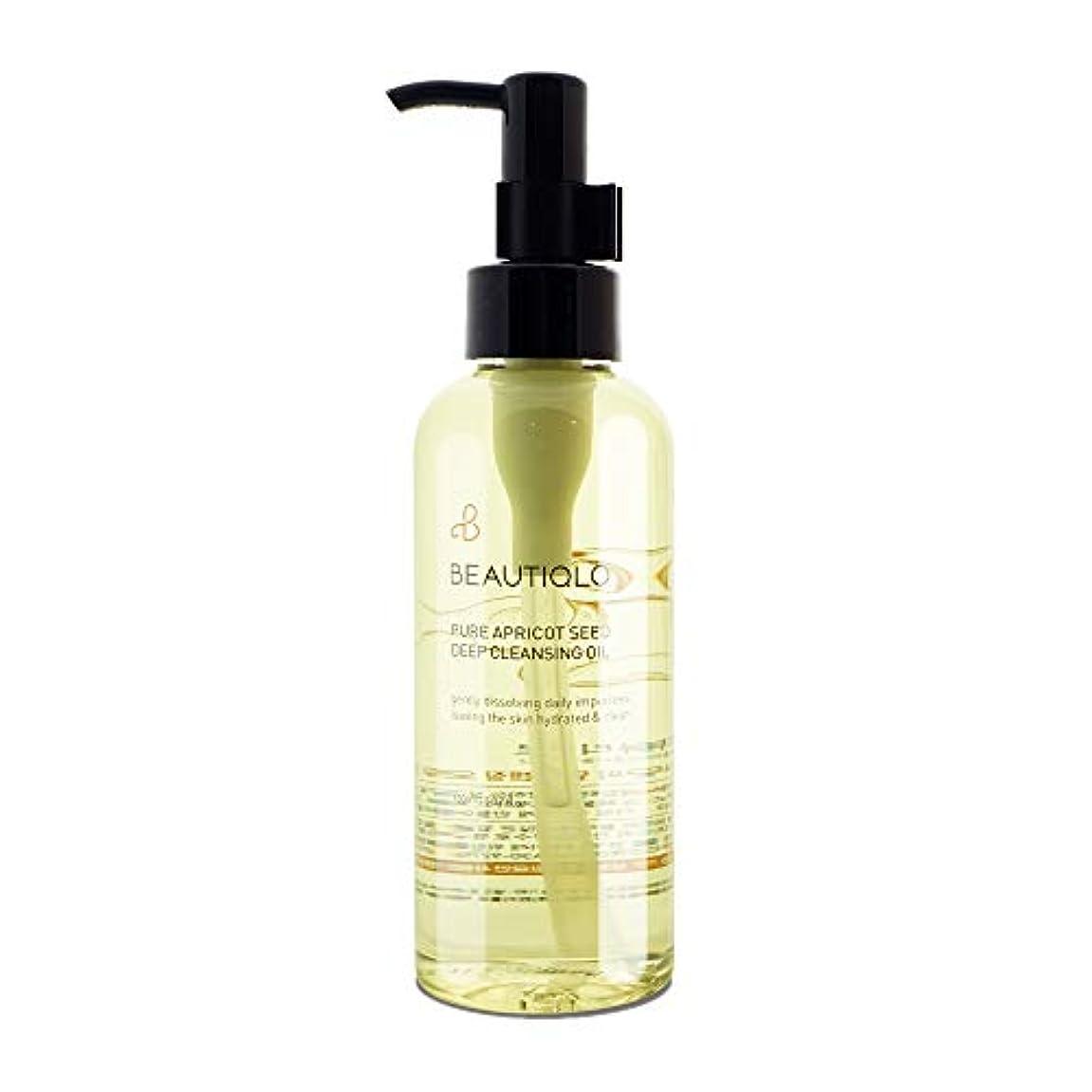 提供海岸曲韓国化粧品 BEAUTIQLO PURE APRICOT SEED DEEP CLEANSING OIL ビューティクロ ピュアアプリコットシードクレンジングオイル あんず油