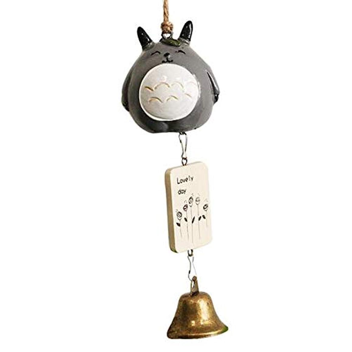 直感スマッシュバーゲンFengshangshanghang 風チャイム、クリエイティブ?ブラスベルホームデコレーション、ブラック、サイズは28cm,家の装飾 (Color : B)