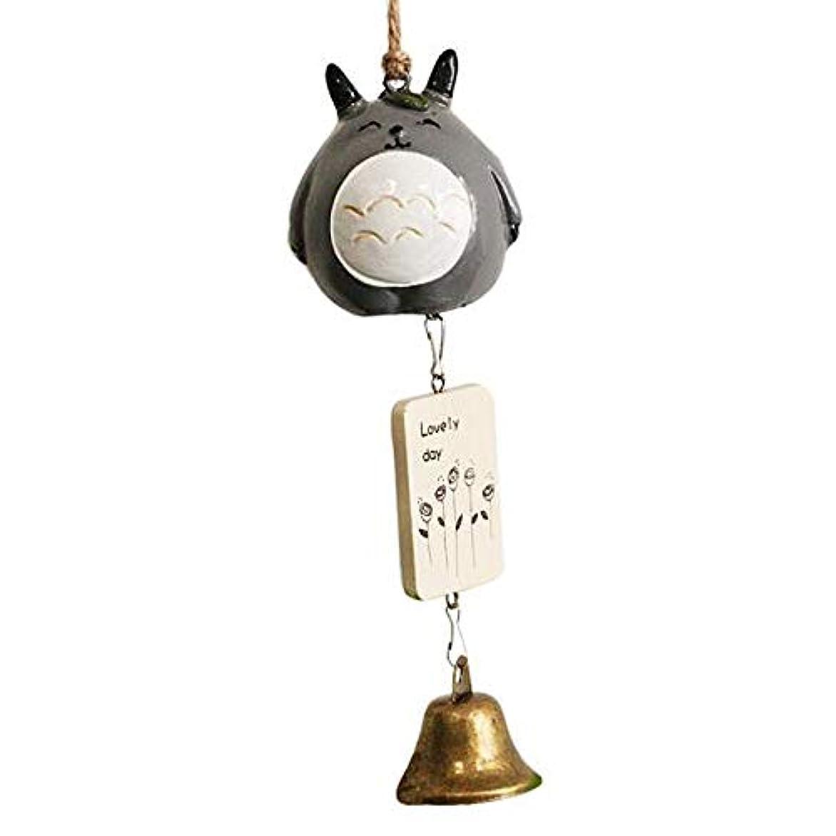 部族なんでも枢機卿Youshangshipin 風チャイム、クリエイティブ?ブラスベルホームデコレーション、ブラック、サイズは28cm,美しいギフトボックス (Color : B)