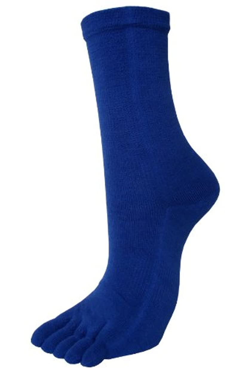 アンタゴニストハーフ職人エンバランス レギュラー5本指ソックス L(25~27cm) ブルー T41300