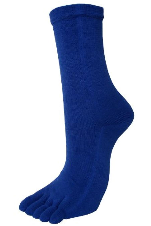 習字足音通貨エンバランス レギュラー5本指ソックス L(25~27cm) ブルー T41300