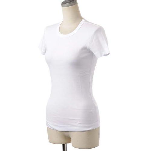 (スリードッツ)Three Dots クルーネック/半袖Tシャツ/カットソー AA1C-032W White XS [並行輸入品]