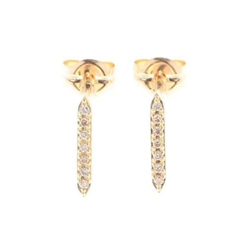 COCOSHNIK(ココシュニック)K18ダイヤモンド ヘキサゴン スタッドピアス イエローゴールド(104) 00