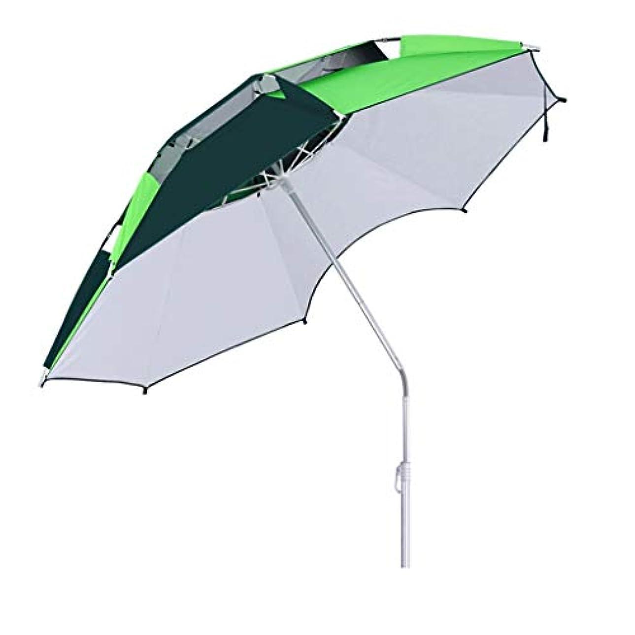 削除する創始者トリクル太陽傘アルミ合金オックスフォード回転日焼け止め雨折りたたみ傘屋外サンシェード傘 (サイズ さいず : Arc degree2.2m)