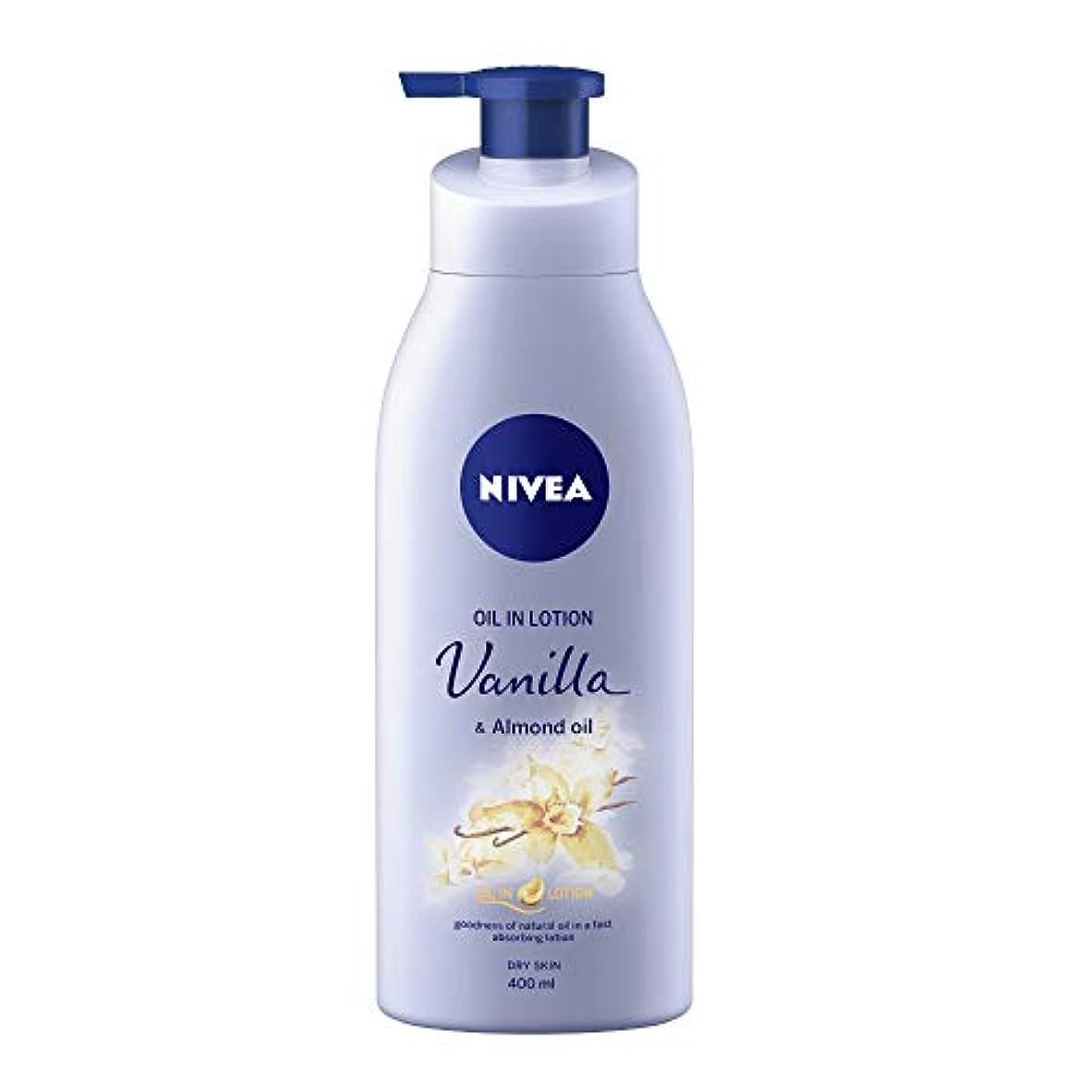 気晴らしインタフェースソーシャルNIVEA Oil in Lotion, Vanilla and Almond Oil, 400ml