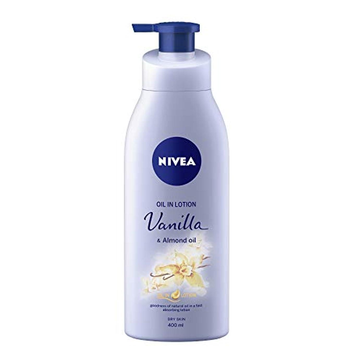 退屈させる少数土曜日NIVEA Oil in Lotion, Vanilla and Almond Oil, 400ml