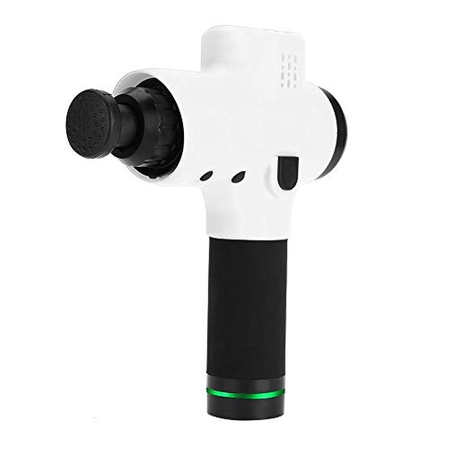 叫ぶアシスタントマイル100-240ボルト手持ち型の深いティッシュ筋肉マッサージャーの銃のマッサージ装置、体の痛みのための専門のコードレスパーカッション(US Plug)