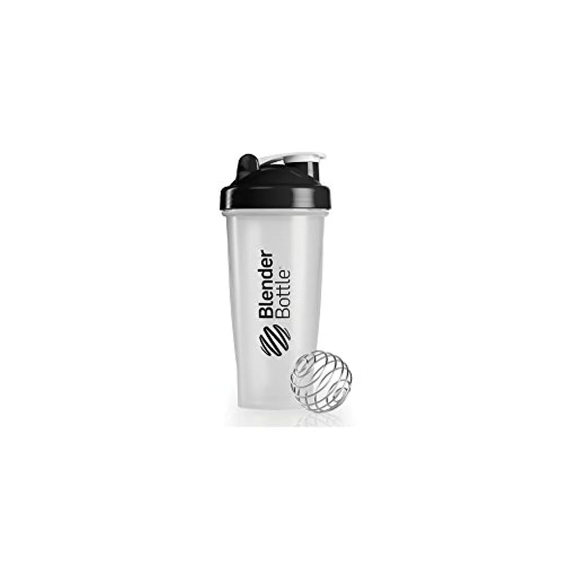 ハンバーガー統治する息を切らしてBlender Bottle(ブレンダーボトル) 【日本正規品】Blender Bottle Classic Clear 28オンス(800ml) BBCL28 BK