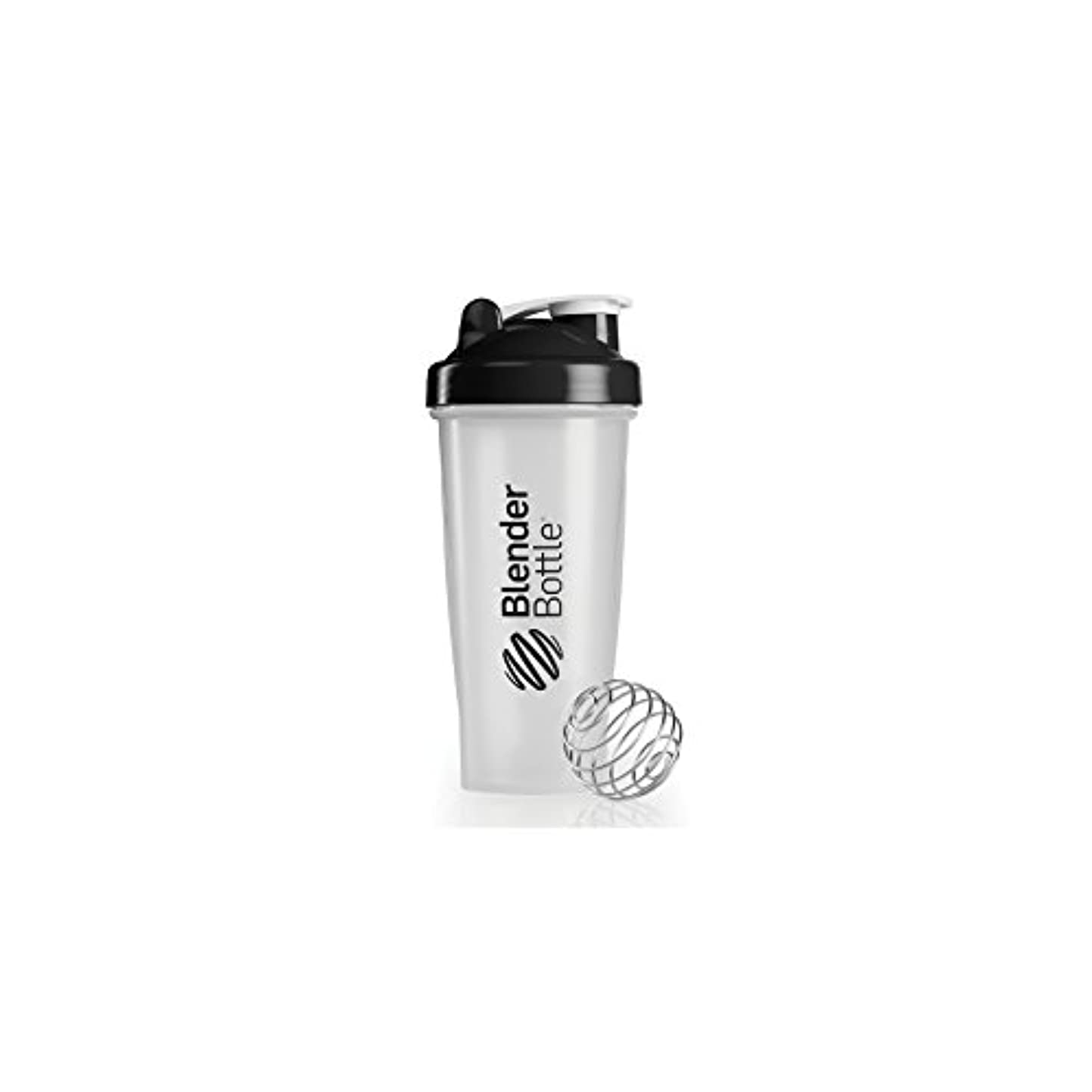 汚染する起こりやすいスコットランド人Blender Bottle(ブレンダーボトル) 【日本正規品】Blender Bottle Classic Clear 28オンス(800ml) BBCL28 BK