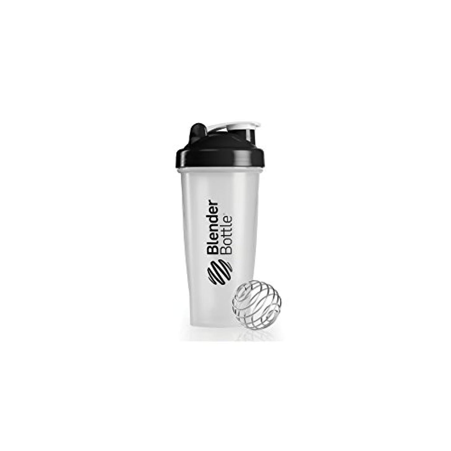 鉱石エアコン不機嫌Blender Bottle(ブレンダーボトル) 【日本正規品】Blender Bottle Classic Clear 28オンス(800ml) BBCL28 BK