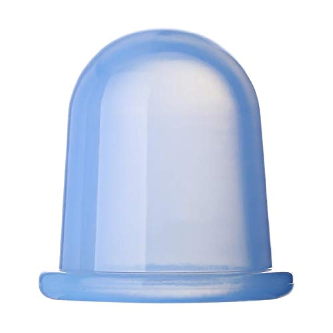 大声でもし幽霊耐久性のあるヘルスケア全身真空マッサージシリコーンカップアンチセルライトは、家族のための物理的疲労ストレスを和らげます - ブルー