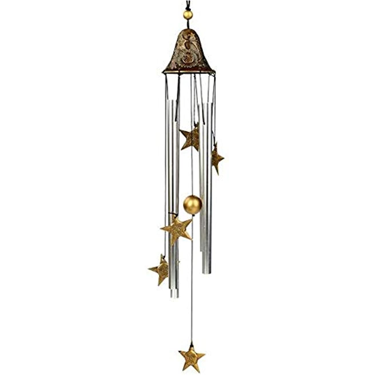 フェローシップ十代あなたのものQiyuezhuangshi 風チャイム、手作りメタル4チューブ風の鐘、ゴールド、全身について60CM,美しいホリデーギフト (Color : A)