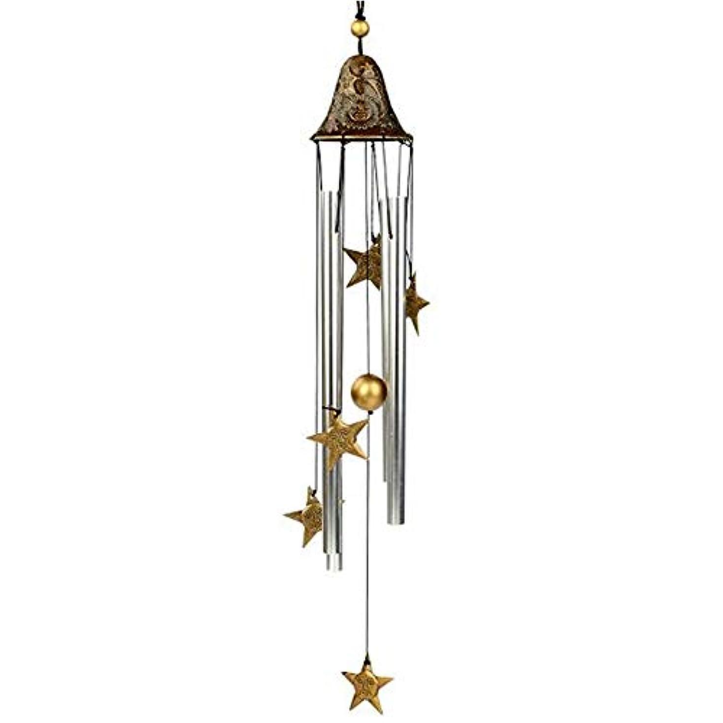 給料ビリージョブAishanghuayi 風チャイム、手作りメタル4チューブ風の鐘、ゴールド、全身について60CM,ファッションオーナメント (Color : A)