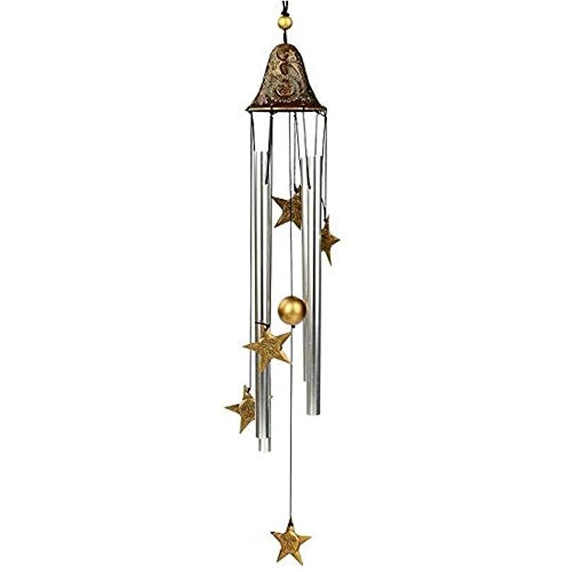 動安定しました吹雪Youshangshipin 風チャイム、手作りメタル4チューブ風の鐘、ゴールド、全身について60CM,美しいギフトボックス (Color : A)