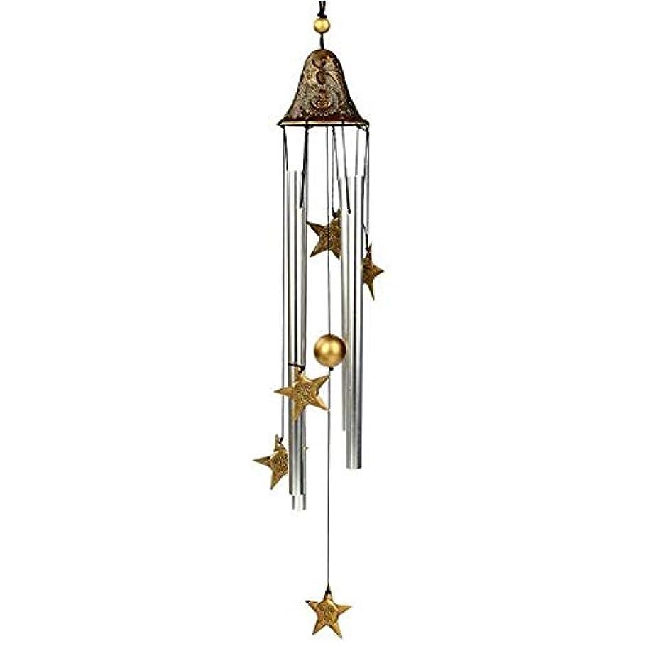 フラップ蒸留する蒸留するAishanghuayi 風チャイム、手作りメタル4チューブ風の鐘、ゴールド、全身について60CM,ファッションオーナメント (Color : A)