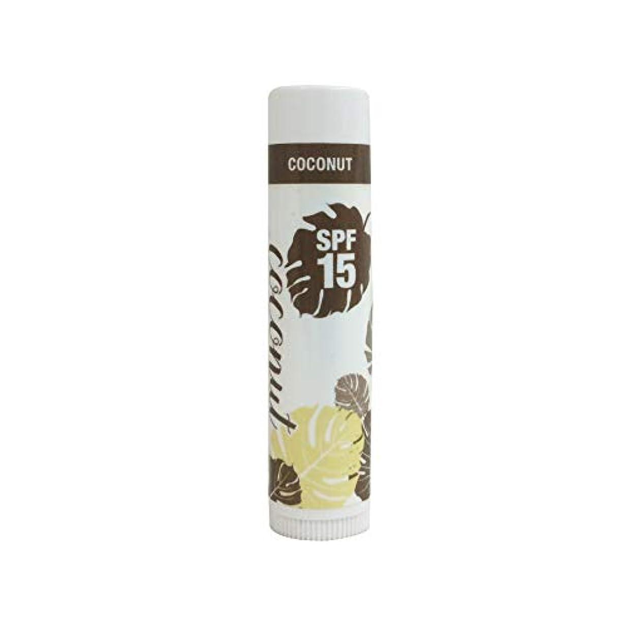 ムス副産物つまずくリップバーム SPF15 4.8g ココナッツ