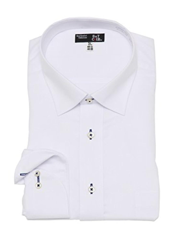 素子ハリケーン個性(ビーアンドティークラブ) B&T CLUB 大きいサイズ メンズ スタンダードカラー 長袖 ワイシャツ C / 3L