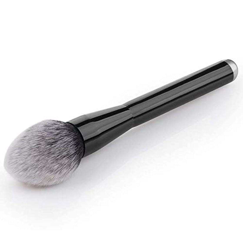潤滑するリブ砂利プロフェッショナルブラックミネラルフェイスルースパウダーブロンザー化粧品メイクアップブラシ