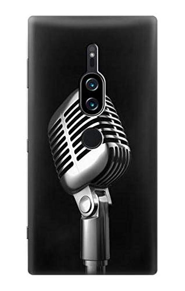 スタッフ契約まとめるJP1672Z2P レトロ マイク ジャズ音楽 Retro Microphone Jazz Music Sony Xperia XZ2 Premium ケース