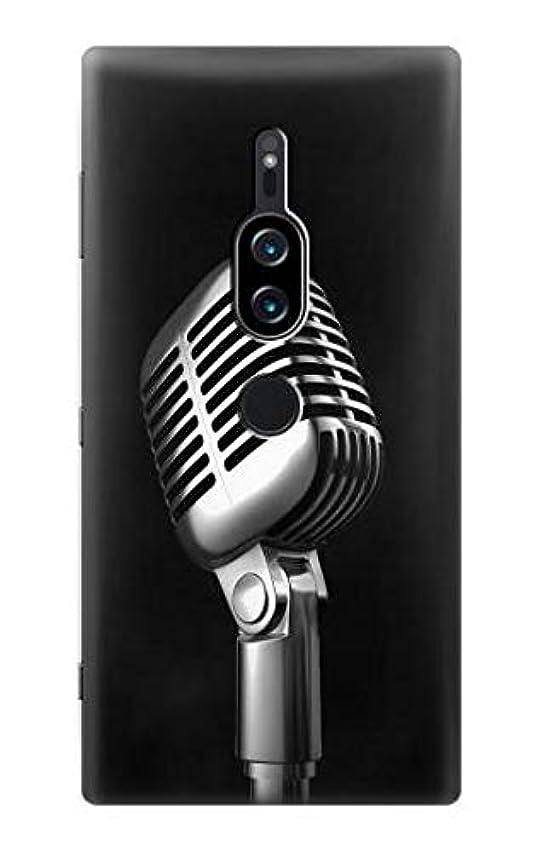 悪因子悪魔テレマコスJP1672Z2P レトロ マイク ジャズ音楽 Retro Microphone Jazz Music Sony Xperia XZ2 Premium ケース