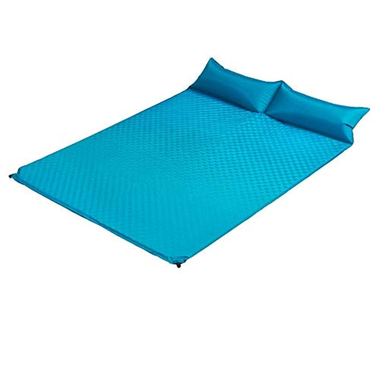 着服博物館雇うHAPzfsp 寝袋 睡眠パッドの自動膨脹可能なテントの睡眠パッドの保湿のマット2色任意 旅行、屋外、ホテル、登山、キャンプ、携帯 (Color : Light blue)