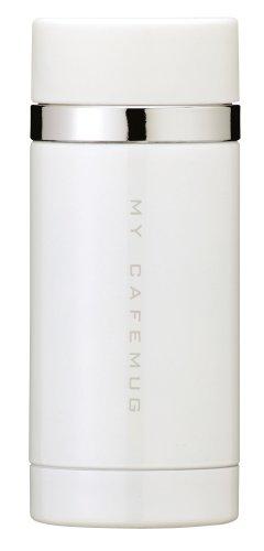 パール金属 水筒 200ml 直飲み ステンレス マグ ピュアホワイト プレミアムマイカフェスリム ダイレクト H-6923