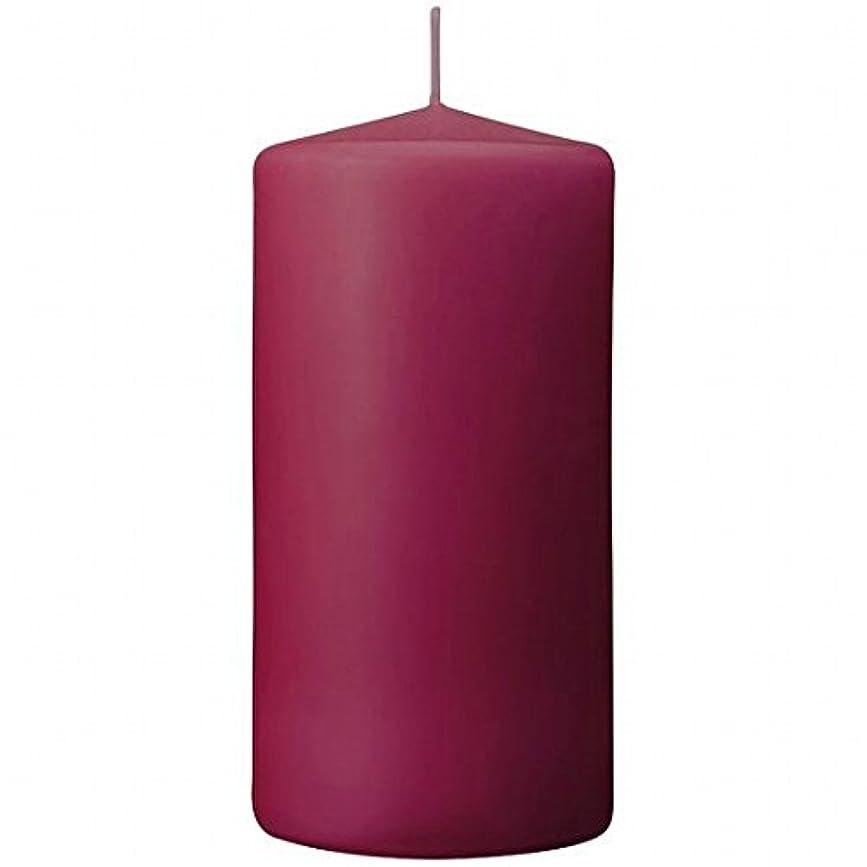 要求する確かに器具カメヤマキャンドル(kameyama candle) 3×6ベルトップピラーキャンドル 「 パープル 」