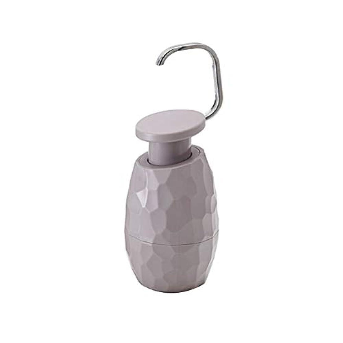 冷淡な荒野ビームTOPBATHY ソープディスペンサーボトルポンプ詰め替え用ボトル入り液体ソープシャンプーローションハンドディスペンサーキッチン(ダークグレー)