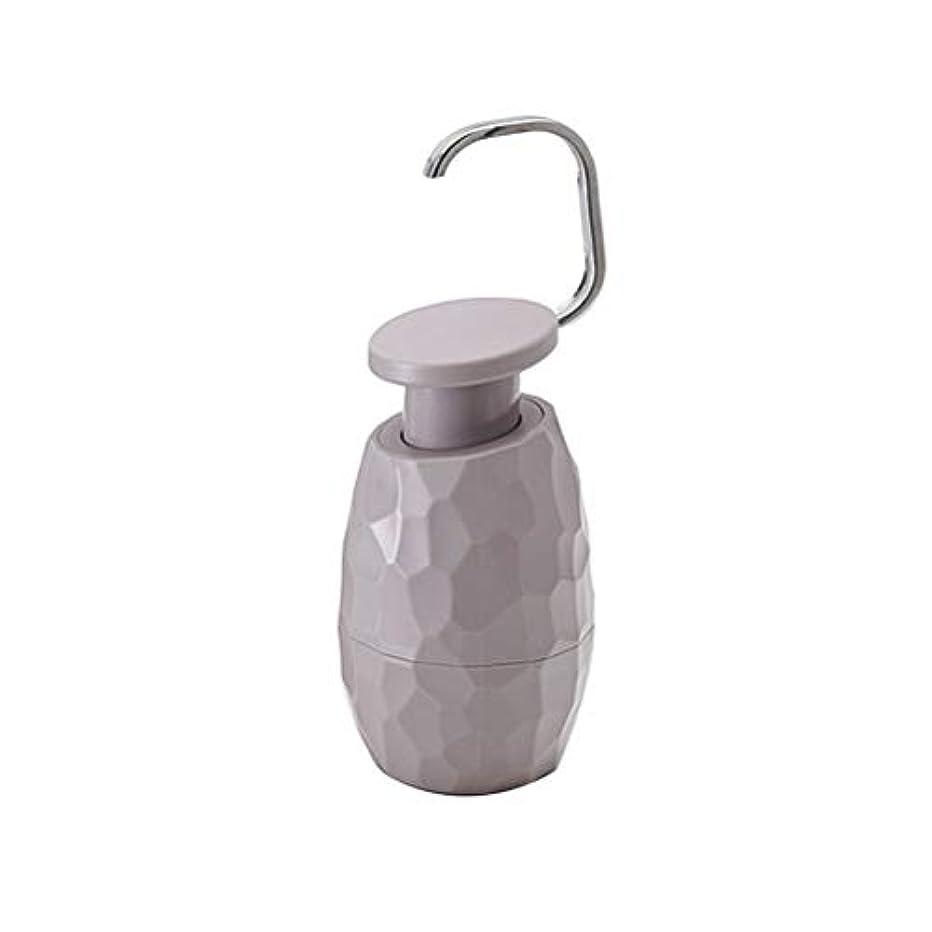 麦芽令状感覚TOPBATHY ソープディスペンサーボトルポンプ詰め替え用ボトル入り液体ソープシャンプーローションハンドディスペンサーキッチン(ダークグレー)