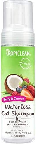 TropiClean TROP-WCDEEP Deep Cleaning Waterless Cat Shampoo, 7.4oz