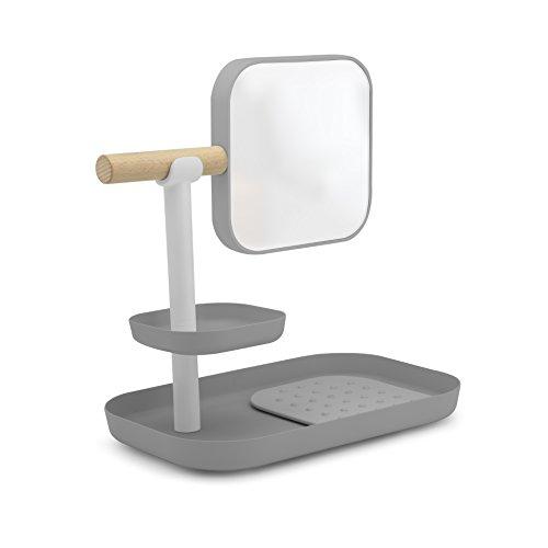 RoomClip商品情報 - umbra ミラー付き小物収納 VANA ORGANIZER(バナ オーガナイザー) グレー