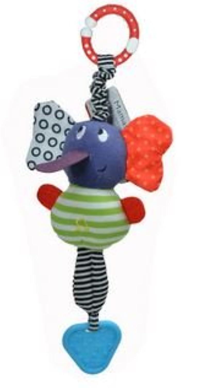 ぞう さん ラトル 赤ちゃん おもちゃ バギー ベビーベット 象型 カラフル 玩具 たのしい 音が出る ガラガラ 知育玩具 お祝い 出産