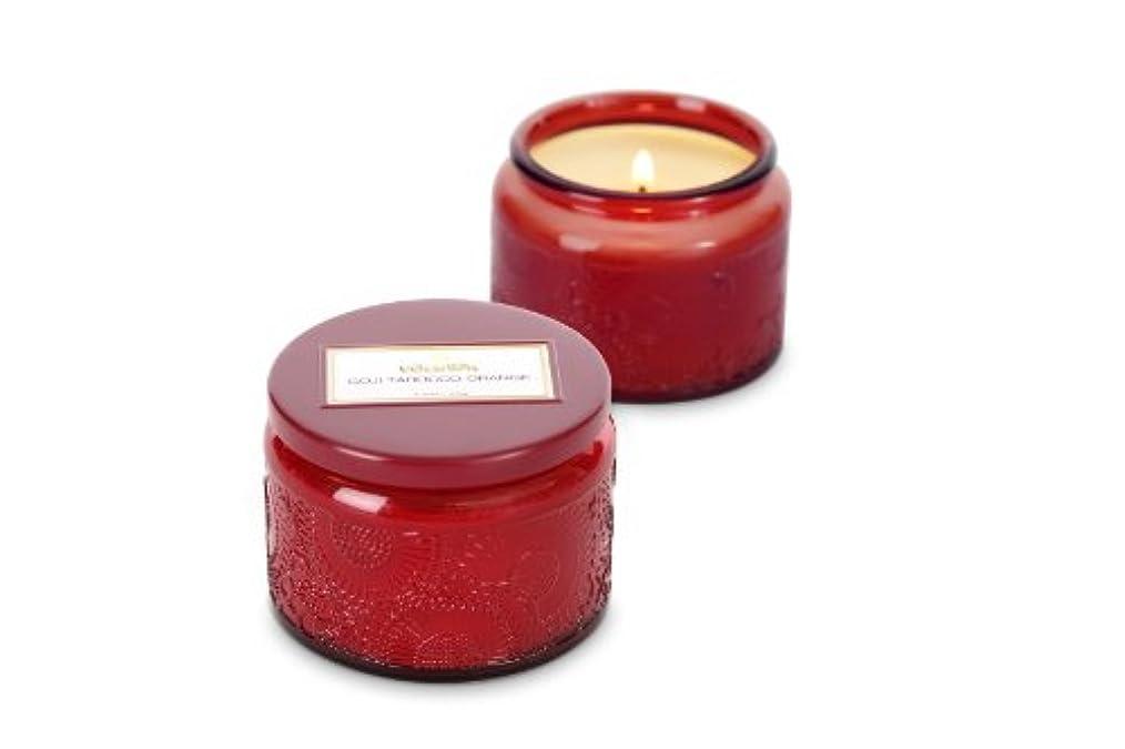 昆虫を見るホールドオールバリーVoluspa ボルスパ ジャポニカ グラスジャーキャンドル S ゴージ&タロッコオレンジ JAPONICA Glass jar candle GOJI & TAROCCO ORANGE