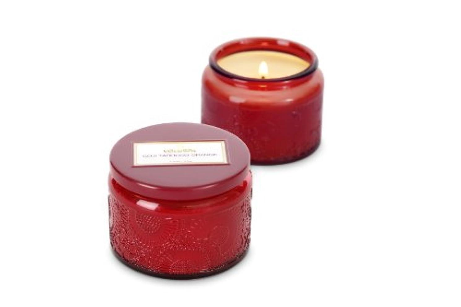 生きている法律味方Voluspa ボルスパ ジャポニカ グラスジャーキャンドル S ゴージ&タロッコオレンジ JAPONICA Glass jar candle GOJI & TAROCCO ORANGE