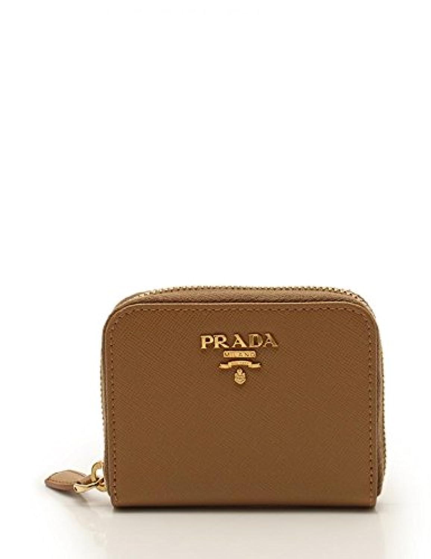 (プラダ) PRADA コインケース 小銭入れ 財布 1M0268 サフィアーノレザー ベージュ 中古