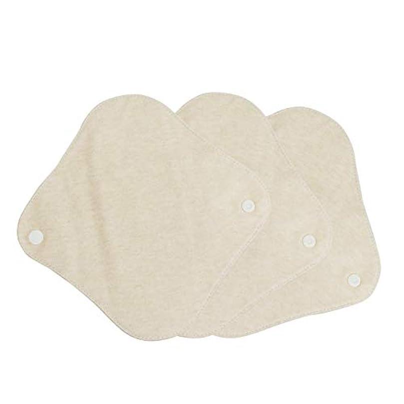 広告主ホーン年次布ナプキン オーガニックコットン 両面使用 おりものシート 18cm 防水布 吸収帯入り 3枚
