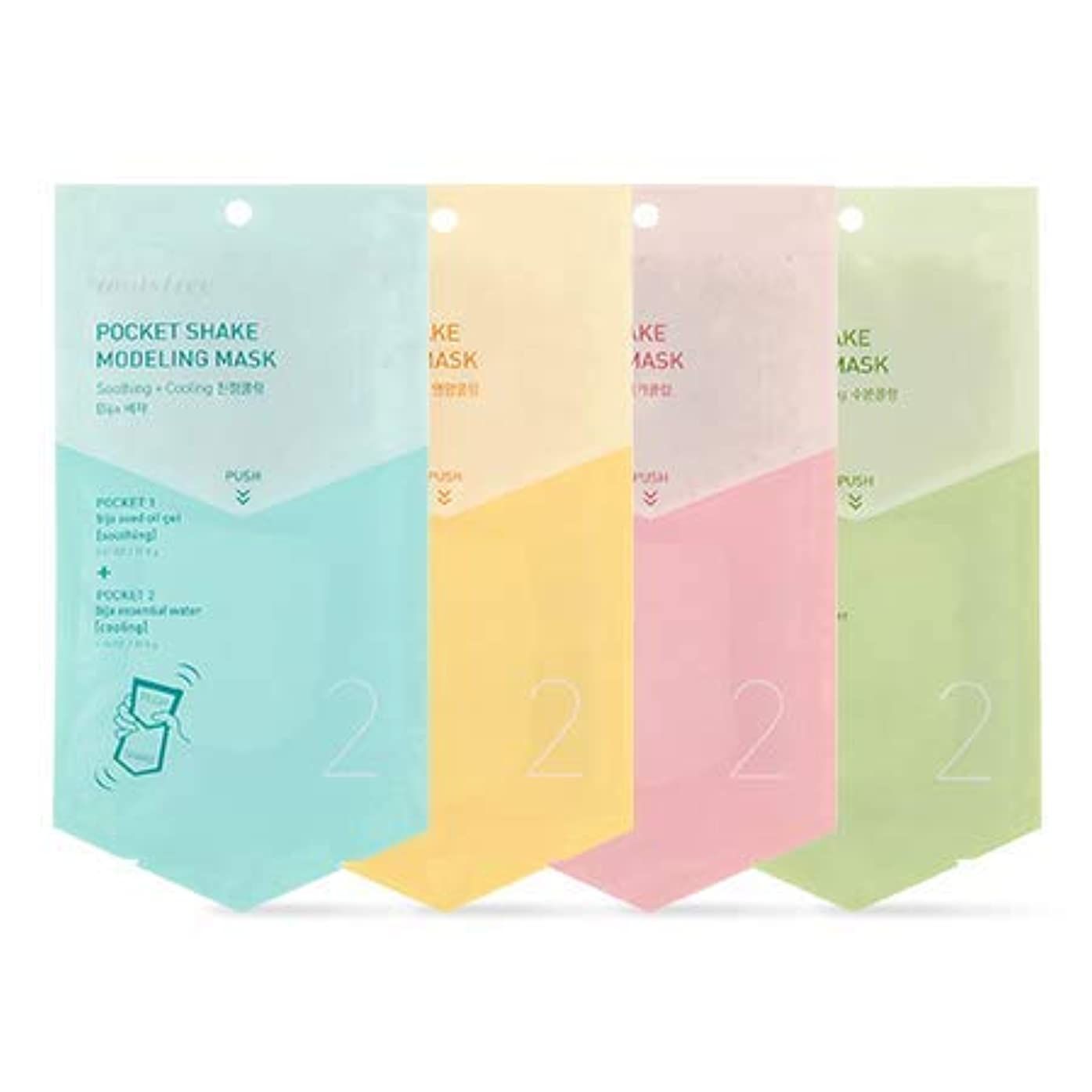 浮浪者リア王分析的[イニスフリー.innisfree]ポケットシェイクのモデリングマスク50mL(2ea)/ Pocket Shake Modeling Mask (#1 green tea)