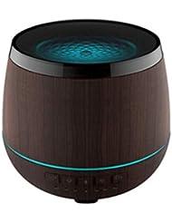 スマートなブルートゥースのスピーカーの加湿器、可聴周波超音波炉の必要な夜ライト無言の本社 (Color : Black)